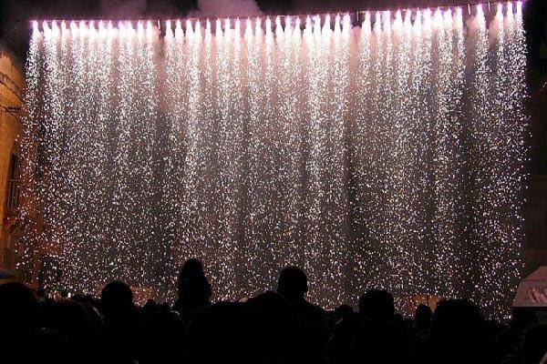 Firework Rain Effect