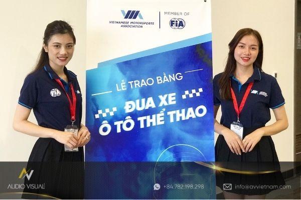 Standee rental service in Hanoi